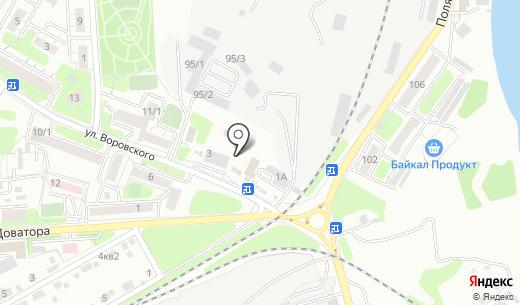 Фианит. Схема проезда в Иркутске