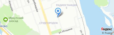 Black cat на карте Иркутска