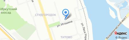 Политех на карте Иркутска