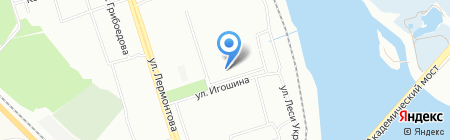 Вега на карте Иркутска
