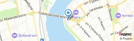 Аварийное бюро экстренной помощи на карте Иркутска