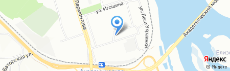 Элит на карте Иркутска