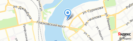 Цесарка на карте Иркутска
