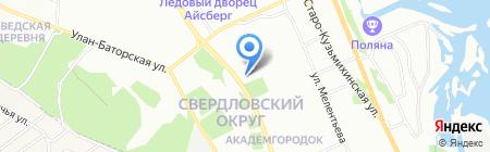 Аптека 36 и 6 на карте Иркутска