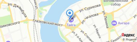 Континент-тур на карте Иркутска