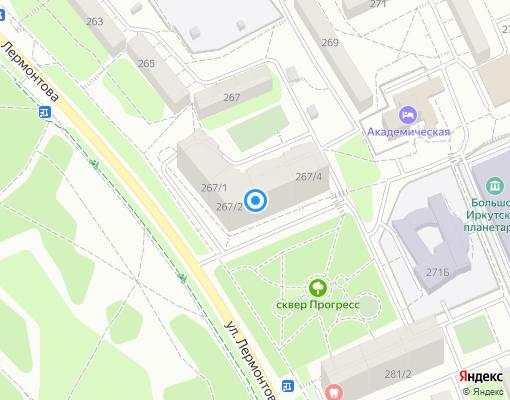 Управляющая компания «Управляющая компания Прогресс» на карте Иркутска