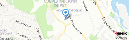 Амира на карте Иркутска