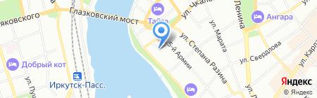 Сибгипролестранс на карте Иркутска