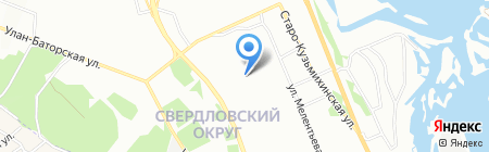 Байкал-Лингва на карте Иркутска