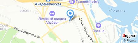 Киоск по продаже фастфудной продукции на карте Иркутска