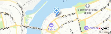 Сурикова 15 на карте Иркутска