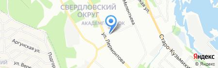 Продовольственный магазин на ул. Лермонтова на карте Иркутска