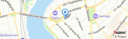 Авангард-Авто на карте Иркутска