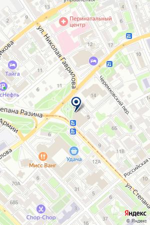 Роза Ветров на карте Иркутска