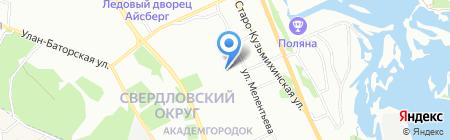 НьюТон на карте Иркутска
