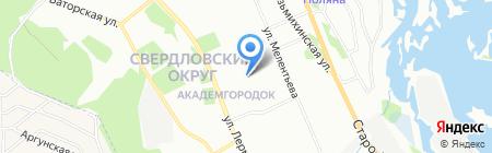 Детский сад №124 на карте Иркутска
