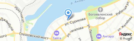 Лицей на карте Иркутска