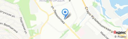 ЦАВС на карте Иркутска