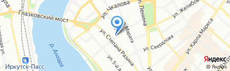 Клиника доктора Лютикова на карте Иркутска