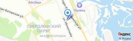 Актер на карте Иркутска