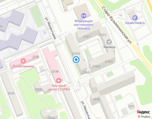 Управляющая компания «ПРИМЕР» на карте Иркутска
