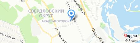 Средняя общеобразовательная школа №24 на карте Иркутска