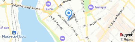 Банкомат Банк ВТБ 24 ПАО на карте Иркутска