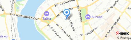 ИнвестКомпозитСтрой на карте Иркутска