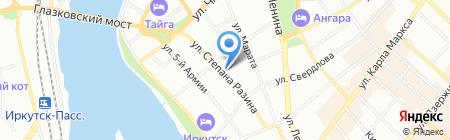 Казанова на карте Иркутска