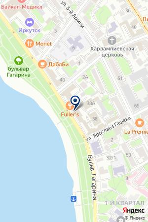 ИРКУТСКИЙ ФИЛИАЛ АЛЬФА-БАНК на карте Иркутска