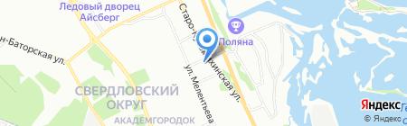 Живея на карте Иркутска