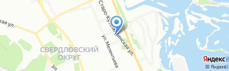 Умница на карте Иркутска
