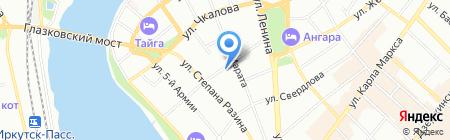 Восточная фантазия на карте Иркутска
