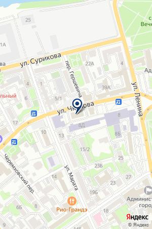 АКЦИОНЕРНЫЙ КОММЕРЧЕСКИЙ БАНК МОСКОВСКИЙ ДЕЛОВОЙ МИР на карте Иркутска