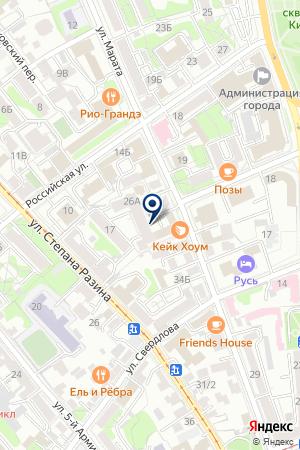 ЛВС на карте Иркутска