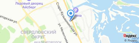 Сакура на карте Иркутска