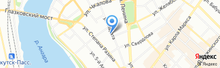 Интерсиб на карте Иркутска