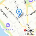 Супермаркет на карте Иркутска