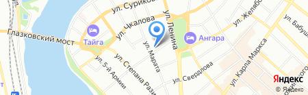 Вокруг Света Турс на карте Иркутска
