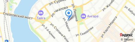 Рекламист на карте Иркутска