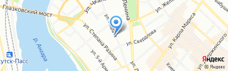 РОСТА на карте Иркутска