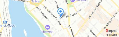 Виктория на карте Иркутска