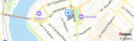 Геммолика на карте Иркутска
