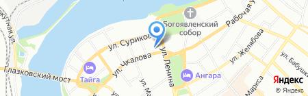 Дискавери-клаб на карте Иркутска