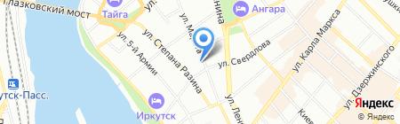 Квадратный метр на карте Иркутска
