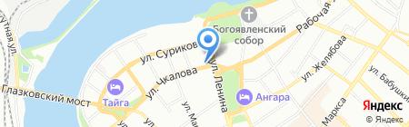 Иркутскстат на карте Иркутска