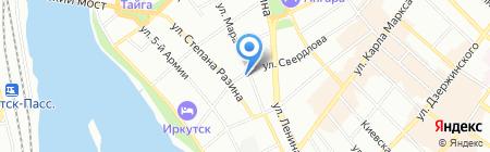 Friends house на карте Иркутска