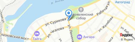 Фэнси на карте Иркутска