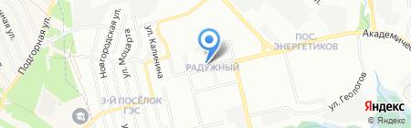 Яхонт на карте Иркутска
