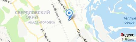 Энерпром на карте Иркутска